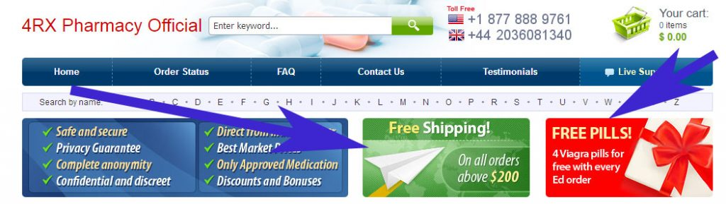 4rx free shipping